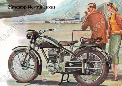 Motorrad Oldtimer Zündapp Norma 200 by Classicseller Anleitungen Handb 252 Cher Und Poster F 252 R