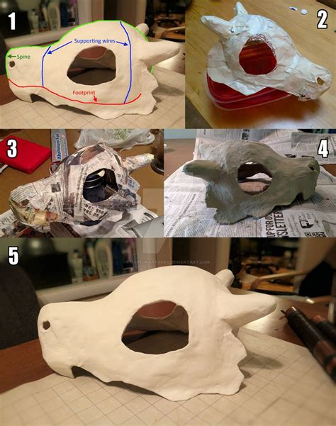 tutorial skull tutorial cubone skull helmet by raptorattacks on deviantart