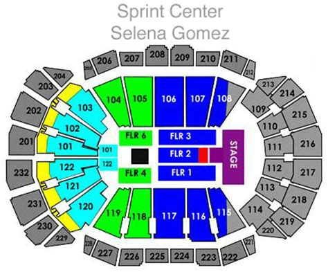 sprint center floor plan selena gomez tickets kansas city mo nov 17 2013 sprint center