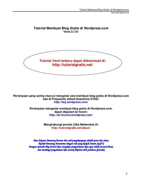 ebook membuat blog di wordpress tutorial membuat blog gratis di wordpress com baru