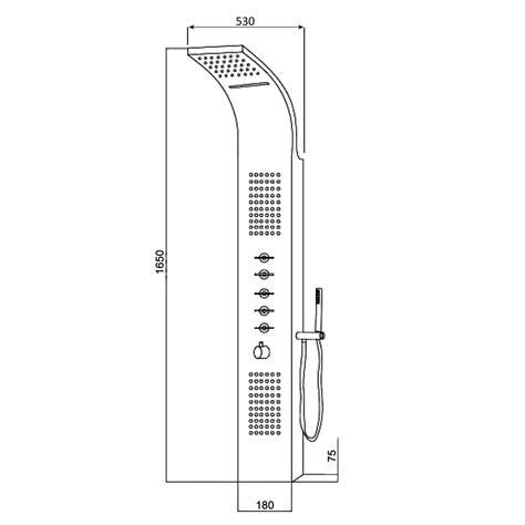 pannello doccia multifunzione termostatico con soffione a