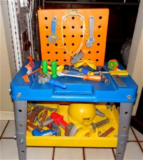 bob the builder work bench bob the builder power tool workbench set w extras tool belt hard hat extra tool ebay