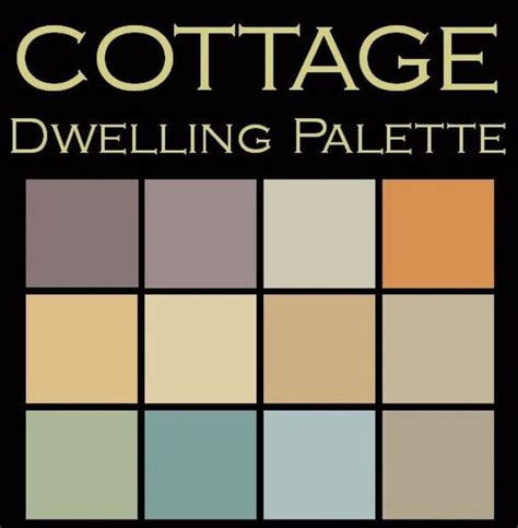 paint colors for cottage cottage dwelling palette the cottage feelings and cottages