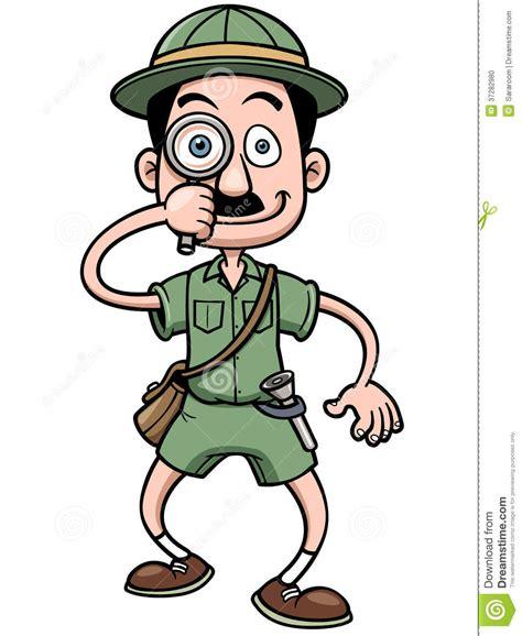 safari guide clipart cartoon safari man stock vector image of glass explorer