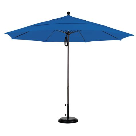 11ft Patio Umbrella California Umbrella 11 Ft Fiberglass Vent Sunbrella Market Umbrella Commercial Patio