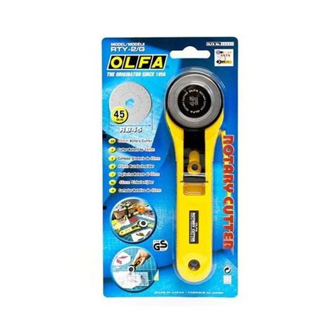 Olfa Rottary Cutter Rty 2g 45mm rotary cutter 45mm alat potong kain craftbymood