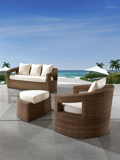 mobili per giardino salotto per esterno in rattan sintetico ecorattan quot oasi