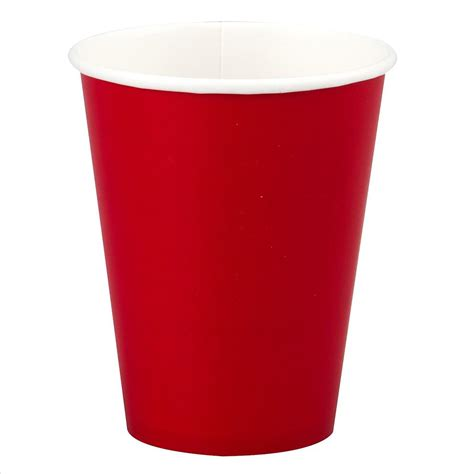 Red Paper Cup   12oz