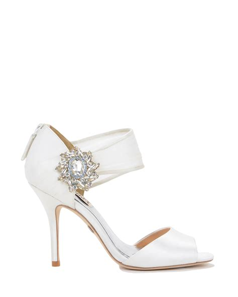 badgley mischka galya embellished evening shoe in