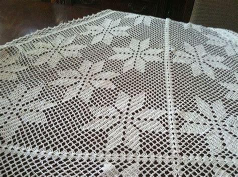 antel de noche buenas a crochet noche buena mantel de mabel es el cuadrado crochet