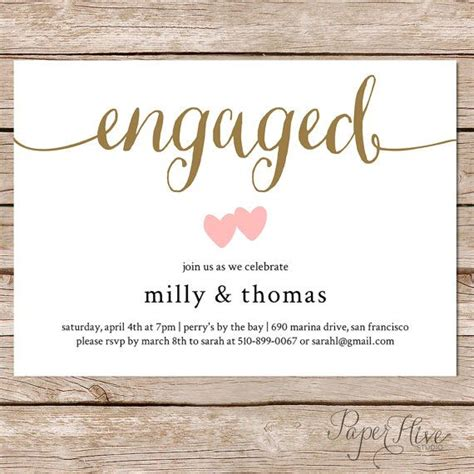 the 25 best engagement party invitations ideas on