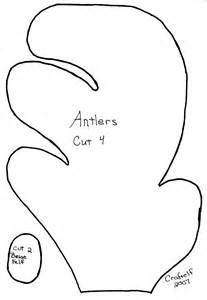 Antler Template by Reindeer Antler Template Crafts