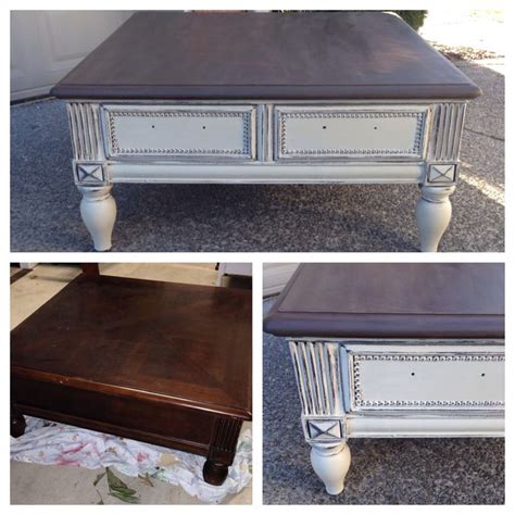 chalk paint table chalk painted sloan coffee table diy