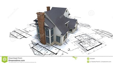 home design architects builders service residential house on plans2 royalty free stock photos