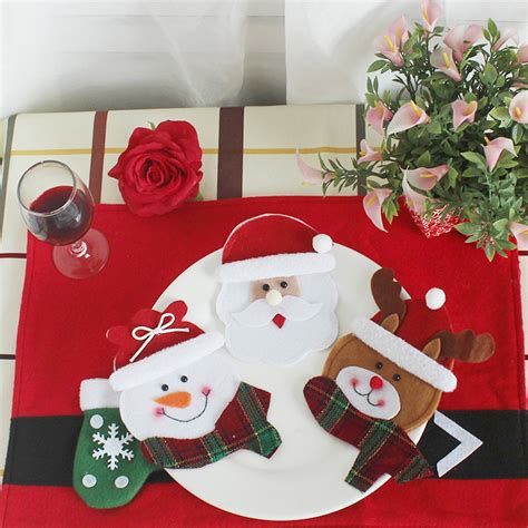 pocket c lovely table מוצר 1pcs decor lovely snowman kitchen tableware