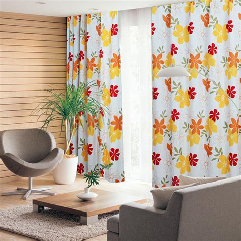 flower pattern drapes country cheap long curtains are all of bright flower patterns