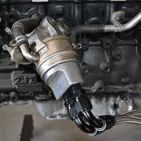 Adaptor Cooler Supra powerhouse racing premium parts phr filter relocation kit for 2jz supra sc300 1jz