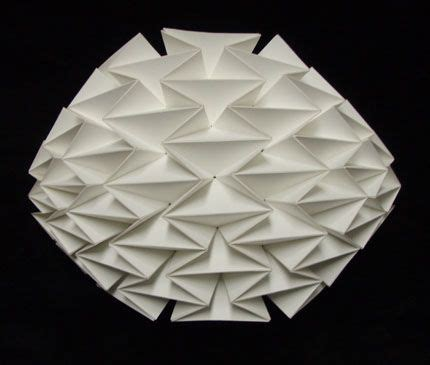 Single Fold Origami - a single sheet of paper folded into a pattern by resch