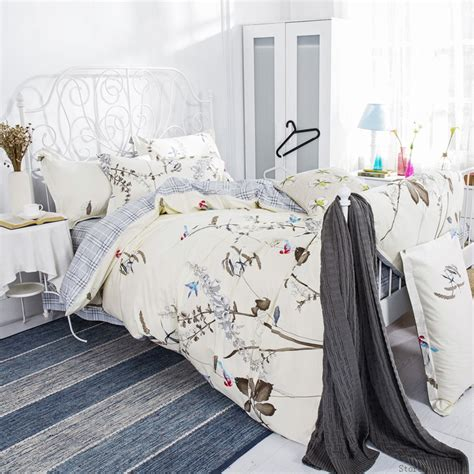 queen size bed cover bohemian duvet covers floral beddings plaid grid bed cover