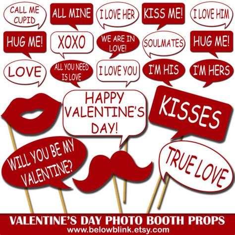 free printable photo booth props speech bubbles valentine s day photo props printable photo booth props
