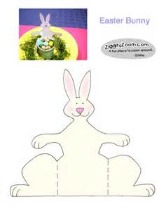 Printable bunny to make into a fun decoration or place setting for