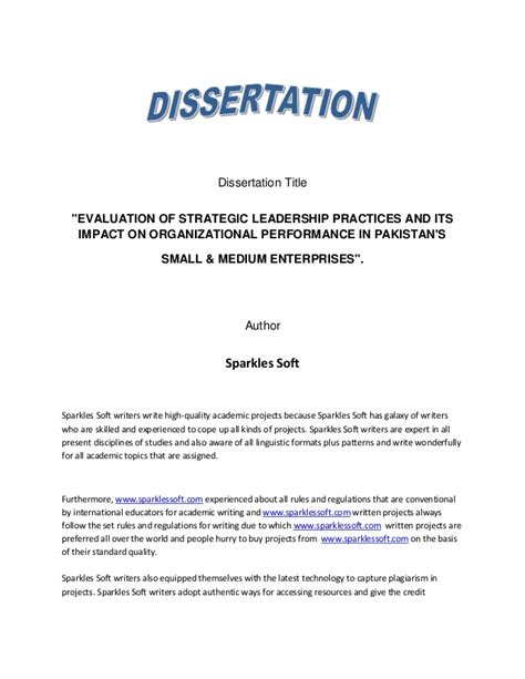 leadership dissertation titles marketing thesis
