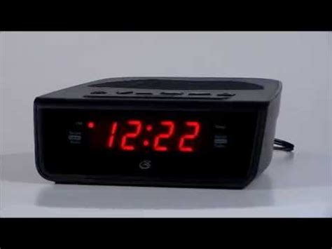 gpx c224b digital clock radio w dual alarms programmable sleep timer