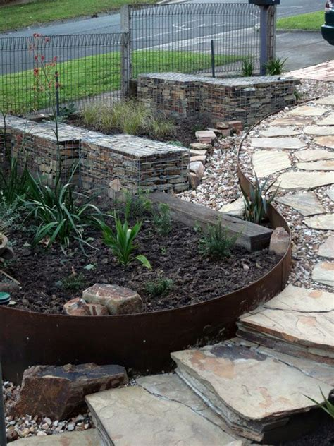 garden wall australia 14 best images about gabion walls on