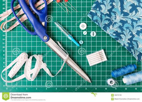 patchwork sewing tools stock photo image 56075139