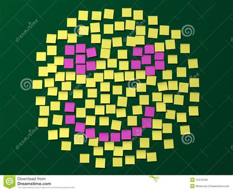 Animal Smiley Sticky Notes Post Its Penanda Dokumen Dan Memo post it note smiley royalty free stock images image 15412439