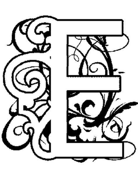 alphabet coloring pages e illuminated e alphabet coloring pages free alphabet