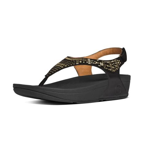 fitflop chada sandal fitflop fitflop design aztek chada sandal black leather