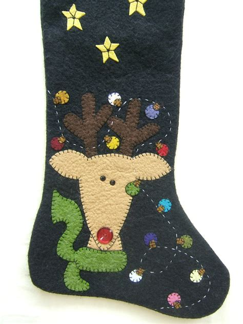 unique christmas stockings unique wool felt hand made and appliqued christmas stockings