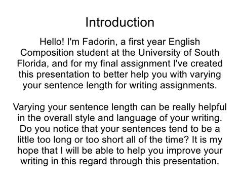 Sentence Pattern Variations   sentence variation