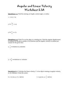 Problem 19.1 The moment of inertia of the rotor of the