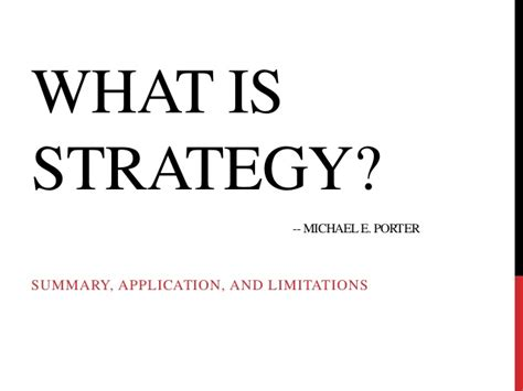 what is section 4 what is strategy porter group 4 sec a