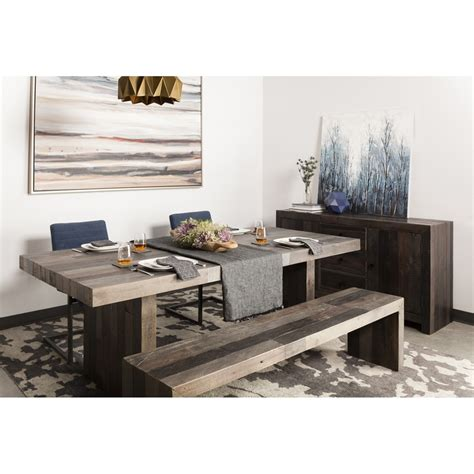 shop moe s home collection vintage wood dining table at