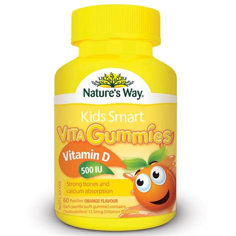 Natures Way Smart Vita Gummies Calcium Vit D 60 Pastilles buy nature s way smart vita gummies vitamin d 500iu 60 gummies at chemist warehouse 174