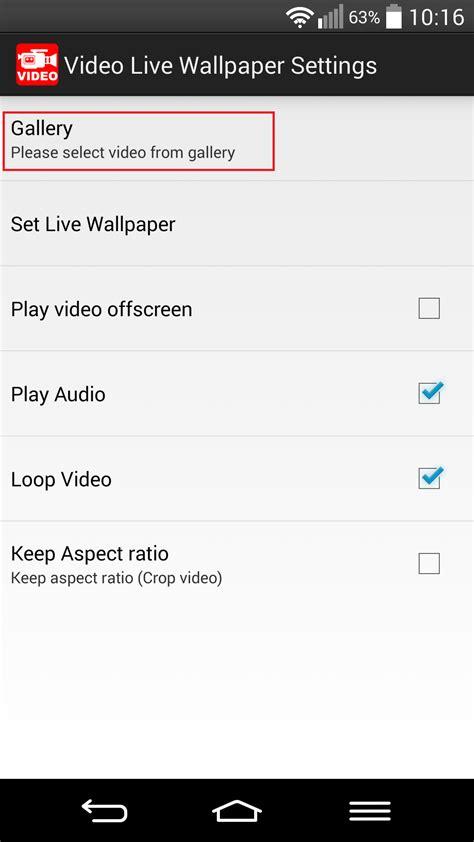wallpaper android einstellen videos als live wallpaper in android festlegen bitpage