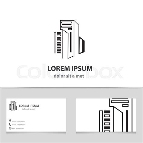 building a business template vector icon building with business card template creative