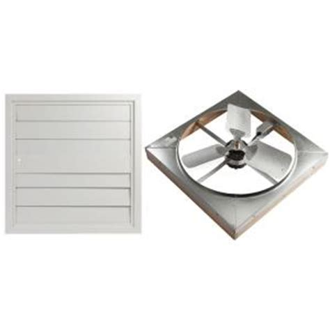 whole house window fan home depot master flow 4500 cfm 24 in direct drive whole house fan with shutter whfs24m the