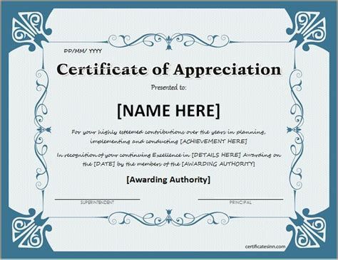 certificate of appreciation templates for word certificate of appreciation for ms word at http