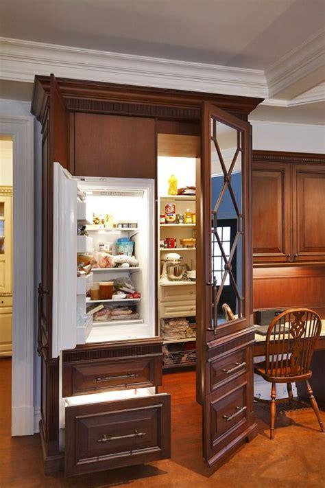 armoire refrigerator neat hidden freezer and pantry dream home pinterest