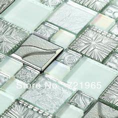 metall backsplash wandbilder silver metal mosaic stainless steel tile kitchen