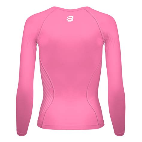 light pink long sleeve top ladies compression long sleeve top light pink blackchrome