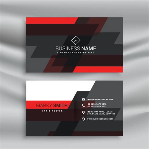Black Business Card Template Vector by And Black Business Card Template Layout In Abstract
