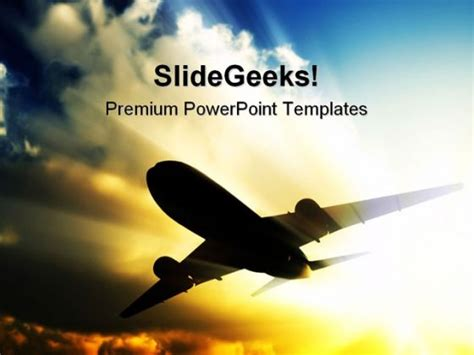 airplane powerpoint template background power point of aircraft