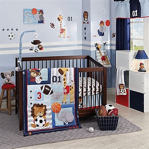 Lambs Ivy 174 Future All Star Crib Bedding Collection Bed Lambs And Mini Crib Bedding