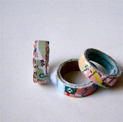 How To Make A Paper Ring - wanderlust paper ring allfreejewelrymaking