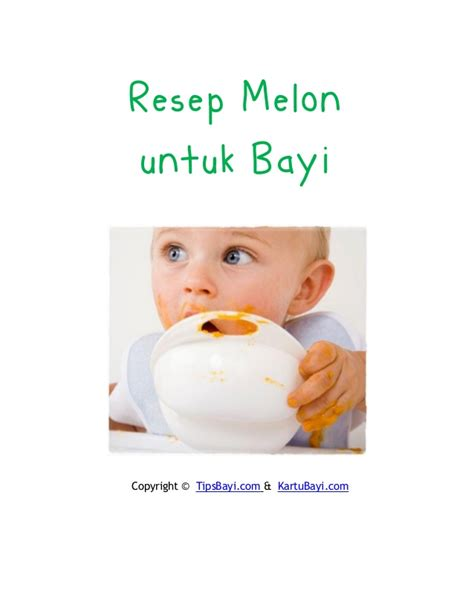 Untuk Bayi resep melon untuk bayi
